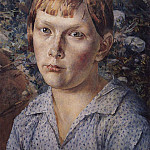 Kuzma Sergeevich Petrov-Vodkin - Girl in the woods. 1938