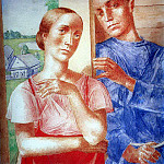 Kuzma Sergeevich Petrov-Vodkin - Spring in the village 2. 1929