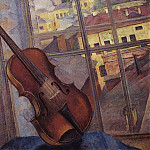 900 Classic russian paintings - Violin. 1918