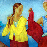 Two girls. 1915, Kuzma Sergeevich Petrov-Vodkin