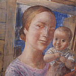 Mother and Child. 1927, Kuzma Sergeevich Petrov-Vodkin
