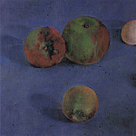 Kuzma Sergeevich Petrov-Vodkin - Still Life. Apples and eggs. 1921