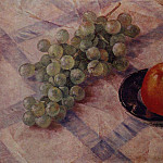 Grapes and apples. 1921, Kuzma Sergeevich Petrov-Vodkin