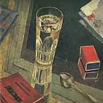 Kuzma Sergeevich Petrov-Vodkin - Still Life with letters. 1925