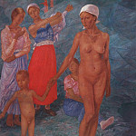 Pavel Fedotov - Morning. Bathers. 1917