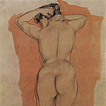 Kuzma Sergeevich Petrov-Vodkin - Artists Model from the back. 1906