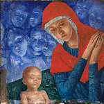 Mother of God with Child, Kuzma Sergeevich Petrov-Vodkin