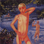 Kuzma Sergeevich Petrov-Vodkin - bathing boys. 1926