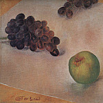 Kuzma Sergeevich Petrov-Vodkin - Still Life. Grapes and apples. 1921