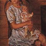 Girl with a Doll. 1937, Kuzma Sergeevich Petrov-Vodkin