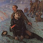Kuzma Sergeevich Petrov-Vodkin - Death Commissioner. 1928