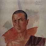 Kuzma Sergeevich Petrov-Vodkin - Sketch makeup to a dramatization of Satan Satans Diary (by L. Andreev). 1922