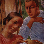 Kuzma Sergeevich Petrov-Vodkin - Spring in the Country 1. 1929