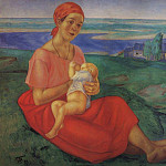 Kuzma Sergeevich Petrov-Vodkin - Mother 1. 1913