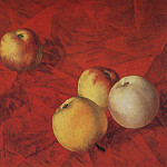 900 Classic russian paintings - Apples. 1917