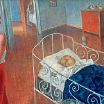 Sleeping Child, Kuzma Sergeevich Petrov-Vodkin