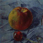 Kuzma Sergeevich Petrov-Vodkin - apple and cherry. 1917