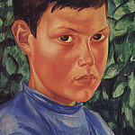 Kuzma Sergeevich Petrov-Vodkin - Portrait of a boy. 1913