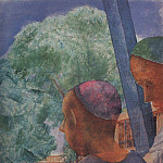 Samarkand. On the terrace. 1921, Kuzma Sergeevich Petrov-Vodkin