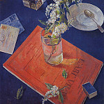Kuzma Sergeevich Petrov-Vodkin - Bird cherry in a glass. 1932