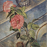 Kuzma Sergeevich Petrov-Vodkin - Still life with roses. 1922