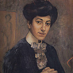 Portrait of the artists wife. 1906, Kuzma Sergeevich Petrov-Vodkin
