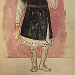 Sketch to the tragedy of Pushkin, Boris Godunov 2. 1923, Kuzma Sergeevich Petrov-Vodkin