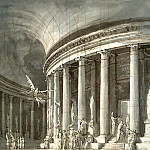 part 04 Hermitage - Gonzaga Pietro di Gottardo - Church with a colonnade-rotunda, figures and sculpture philosophers