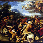 Battle Lapith with centaurs, Luca Giordano