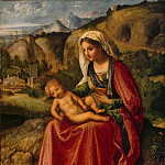part 04 Hermitage - Giorgione - The Virgin and Child in a Landscape