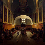 part 04 Hermitage - Granet, Francois Marius - Interior of the choir in the church Capuchin monastery on the square Barberini in Rome