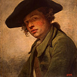 part 04 Hermitage - Greuze, Jean-Baptiste - Portrait of a young man in a hat