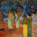 Scene from the life of Tahitians, Paul Gauguin