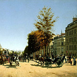 part 04 Hermitage - Grandjean, Edmond Georges - View from the Champs Elysees area stars