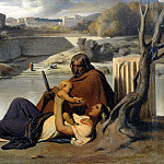 part 04 Hermitage - Delaroche, Hippolyte - Rest on the bank of the Tiber
