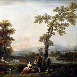 part 04 Hermitage - Dzukkarelli, Francesco - Landscape with a woman leading a cow