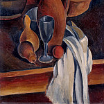 Still Life. Crock, white napkin and fruit, Andre Louis Derain