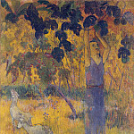 Man, gathering fruit from the tree, Paul Gauguin