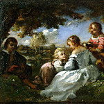 Kids in the garden, De La Pena Narcisse Virgile Diaz
