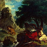 part 04 Hermitage - Delacroix, Eugene - Lion Hunt in Morocco