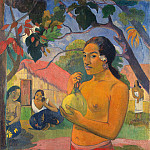 Woman Holding a Fruit, Paul Gauguin