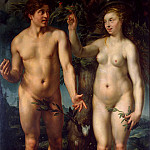 Adam and Eve, Hendrick Goltzius