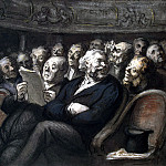 part 04 Hermitage - Daumier, Honore - Intermission at the theater Comedie Francaise