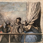 part 04 Hermitage - Daumier, Honore - Announcement of speech stray artists. Turnover sketch of a mans head