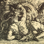 part 04 Hermitage - Goltzius, Hendrick - Dragon devours Cadmus satellites