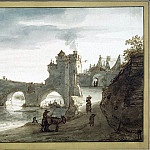 part 04 Hermitage - Doomer, Lambert Harmensz - Bridge over the Loire in Amboise