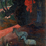 Landscape with two goats, Paul Gauguin