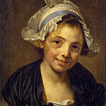 part 04 Hermitage - Greuze, Jean-Baptiste - Head of a girl in a cap