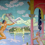part 04 Hermitage - Denis Maurice - Panel second. Zephyr brings Psyche to the Island of Bliss