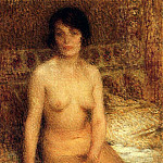 Laurent Ernest A Seated Nude, French artists